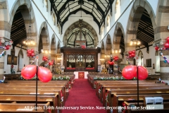 (001) Nave decorated for the Service